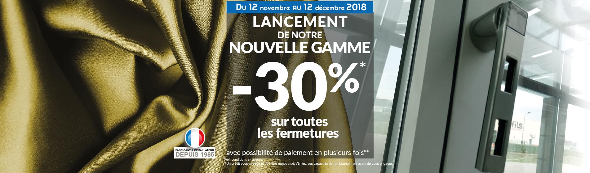 fermetures -30% SAM